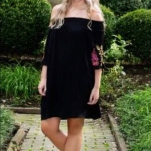 COPY - Off the shoulder black dress